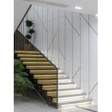 Лестница П-образная с подсветкой