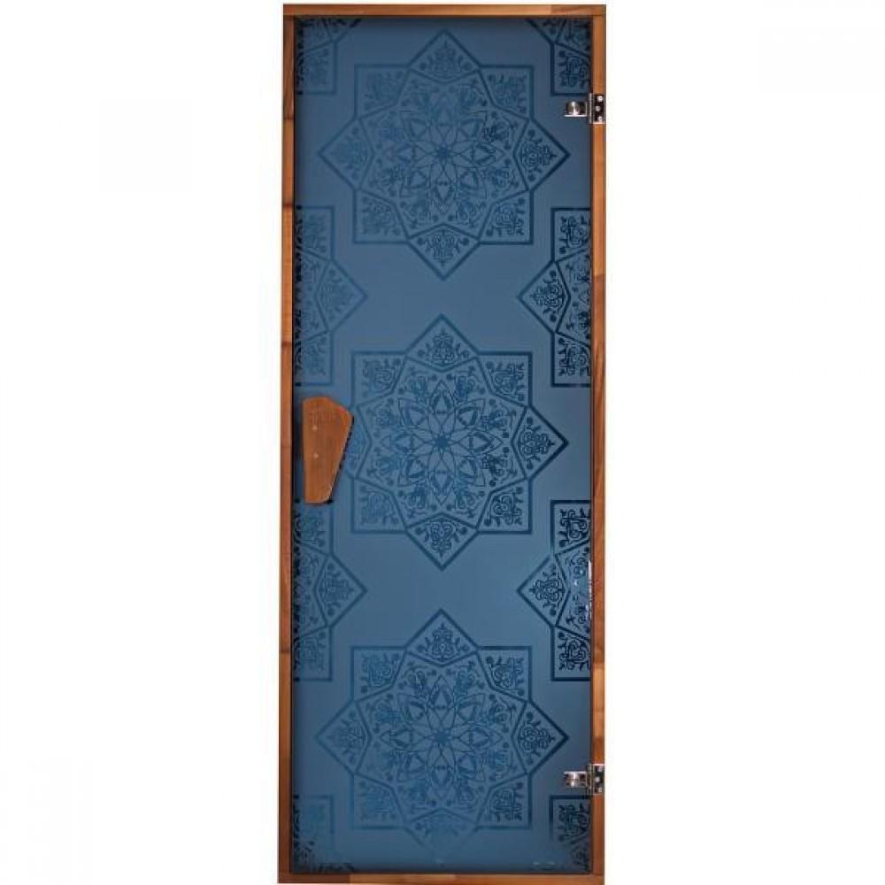 Дверь для сауны и хаммама Tesli Сезам Blue 1900 х 700