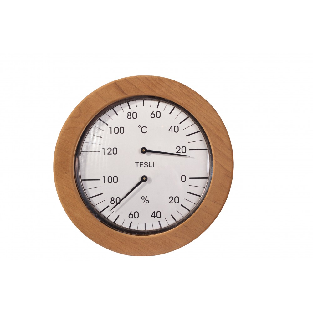 Термогигрометр для сауны и бани Tesli  большой 205 мм