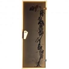 Дверь для бани  и сауны Tesli Виноград 1900 х 700