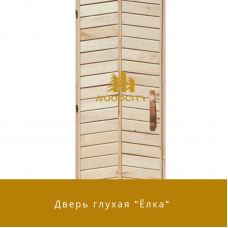 """Дверь """"Елка"""" липа высший сорт"""