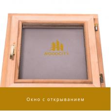 Окно для бани с открыванием стеклопакет Липа