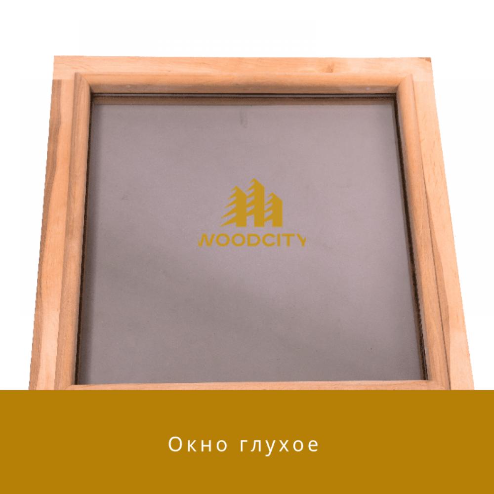Окно для бани глухое стеклопакет Ольха