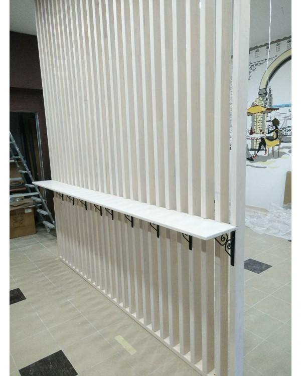 Декоративная рейка 40х120 для перегородок и стен