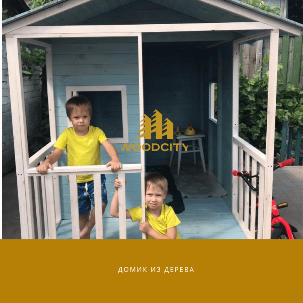 Домик из дерева для детей