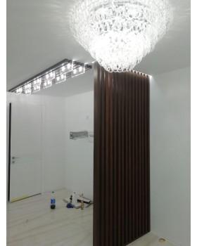 Декоративная рейка 40х80 для перегородок и стен
