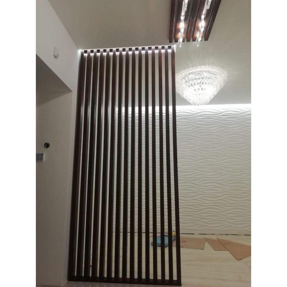 Декоративная рейка 40х100 для перегородок и стен