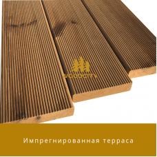 Террасная доска Импрегнированная древесина сорт А-В 20 мм