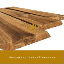 Планкен прямой и косой Импрегнированная древесина сорт А-В 20 мм