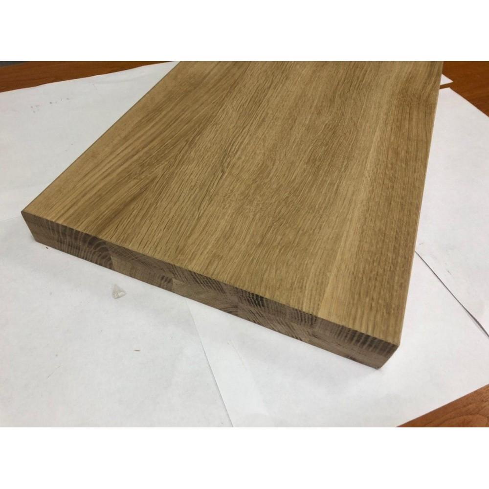 Мебельный щит цельноламельный Дуб 38 мм сорт А-В