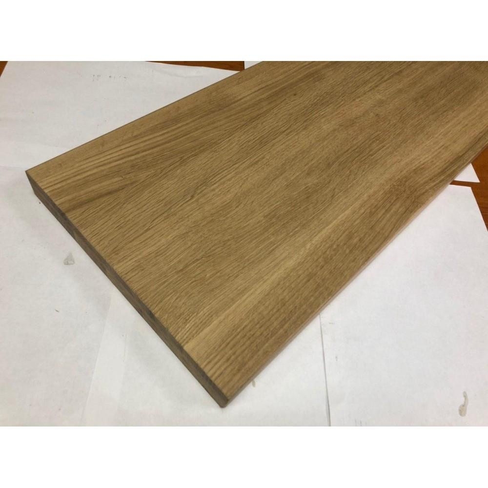 Мебельный щит цельноламельный Дуб 30 мм сорт В-С
