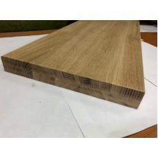 Мебельный щит цельноламельный Дуб 38 мм сорт В-С