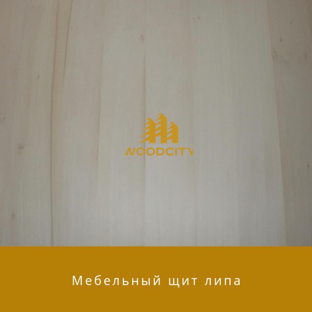 Мебельный щит цельноламельный Липа 38 мм сорт А-В