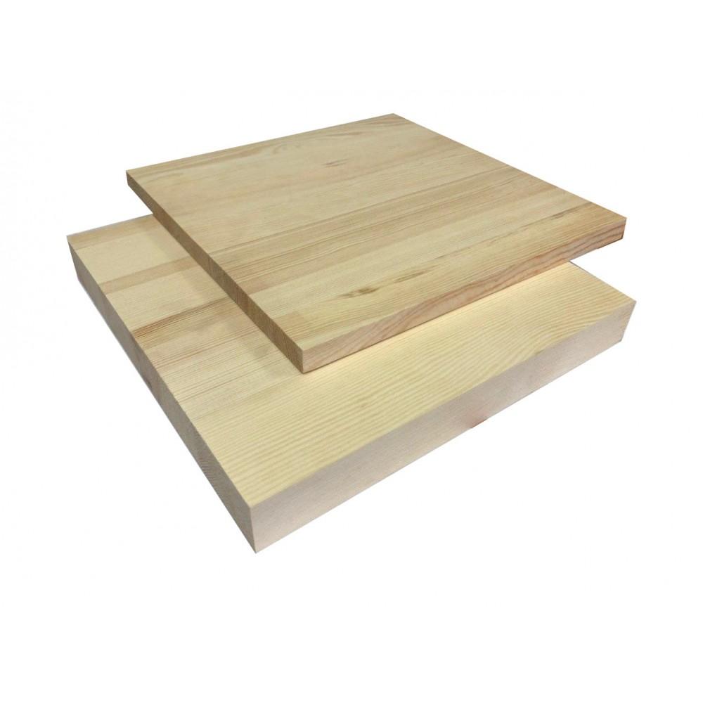 Мебельный щит цельноламельный Сосна 38 мм сорт В-С