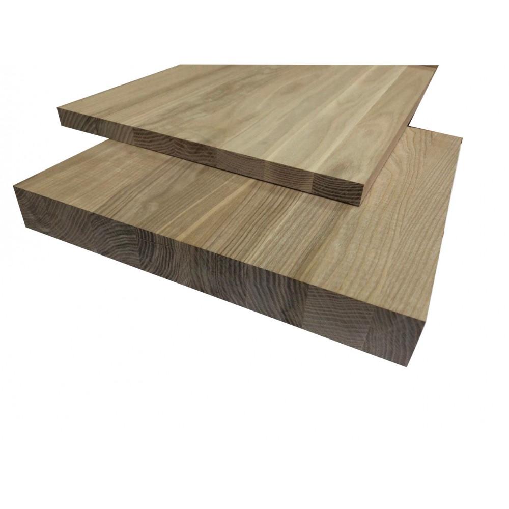 Мебельный щит  цельноламельный Ясень 30 мм сорт А-В