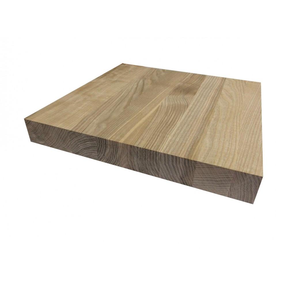 Мебельный щит цельноламельный Ясень 38 мм сорт А-В