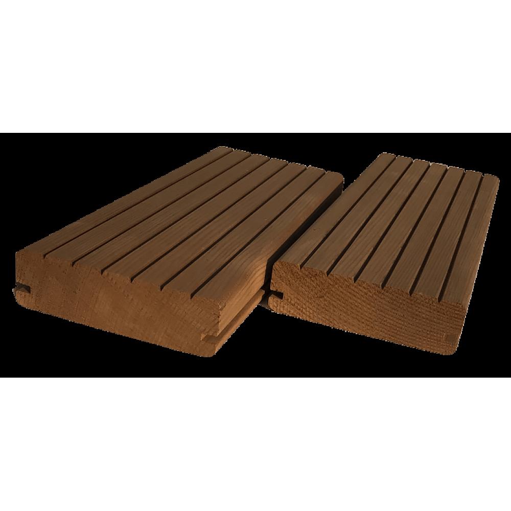 Террасная доска Термососна сорт В-С  20х105/135 мм