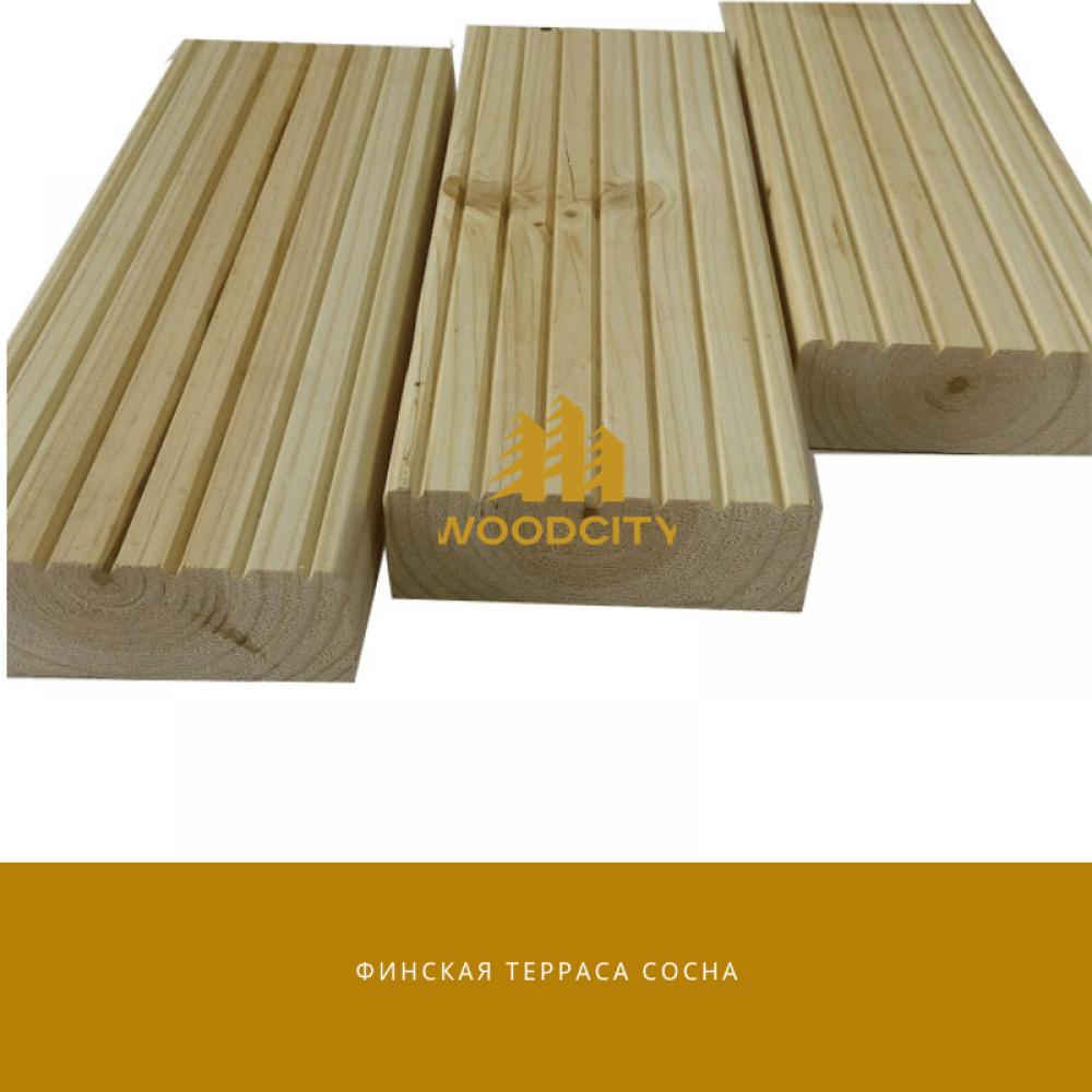 Террасная доска Сосна сорт А-В 20х135 мм
