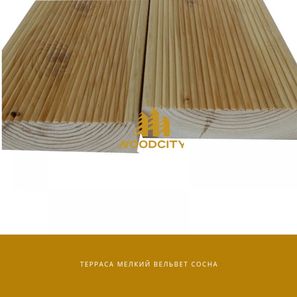 Террасная доска Сосна сорт А-В 20х110 мм